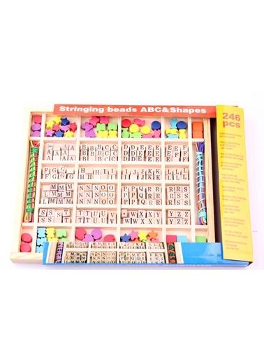 Ahşap ABC ve Şekil İp Dizme Oyunu-Learning Toys